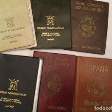 Monedas Juan Carlos I: 6 ESTUCHES - 1976-77-78-79-80 Y 81-MUNDIAL FUTBOL. Lote 171597392