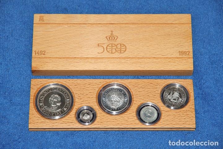 ESTUCHE 5 MONEDAS DE PLATA CENTENARIO ESPAÑA (SERIE 1 - AÑO 1989) EN EXCELENTE ESTADO (Numismática - España Modernas y Contemporáneas - Juan Carlos I)