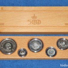 Monedas Juan Carlos I: ESTUCHE 5 MONEDAS DE PLATA CENTENARIO ESPAÑA (SERIE 1 - AÑO 1989) EN EXCELENTE ESTADO. Lote 172281210