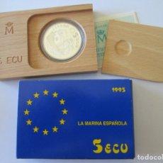 Monedas Juan Carlos I: JUAN CARLOS I * 5 ECU 1995 - LA MARINA ESPAÑOLA - DON QUIJOTE * PLATA*. Lote 172353860