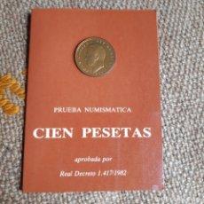 Monedas Juan Carlos I: LOTE 11 CARTERAS SERIE PRUEBA NUMISMATICA FABRICA MONEDA Y TIMBRE 1976, 1977, 1979, 1980 Y 1982 . Lote 173518140
