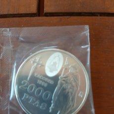 Monedas Juan Carlos I: 2000 PESETAS PLATA 1999 SC EN SU BOLSA DE BANCO ORIGINAL.. Lote 173909602