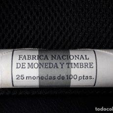Monedas Juan Carlos I: CARTUCHO FNMT 25 MONEDAS DE 100 PESETAS 1995 JUAN CARLOS I.SIN CIRCULAR. Lote 174355887