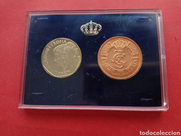 500 PESETAS 1987 PROOF XXV ANIVERSARIO BODA REYES DE ESPAÑA (Numismática - España Modernas y Contemporáneas - Juan Carlos I)