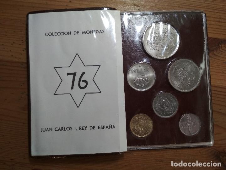 CARTERA OFICIAL FNMT ESPAÑA 1976 REY JUAN CARLOS I (Numismática - España Modernas y Contemporáneas - Juan Carlos I)