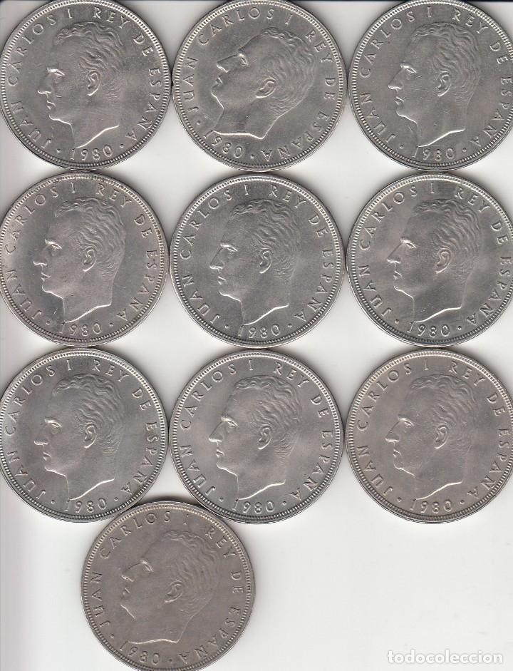 JUAN CARLOS I: 100 PESETAS 1980 ESTRELLA 80 ( LOTE 10 MONEDAS ) (Numismática - España Modernas y Contemporáneas - Juan Carlos I)