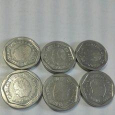Monedas Juan Carlos I: LOTE 6 MONEDAS 200 PESETAS AÑOS 86 87 88. Lote 176315093