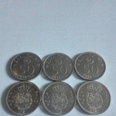 Monedas Juan Carlos I: LOTE 6 MONEDAS DE 50 PESETAS S/C. Lote 176315339