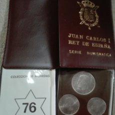 Monedas Juan Carlos I: CARTERITA OFICIAL JUAN CARLOS PRIMERO ESTRELLA 76. Lote 176675510
