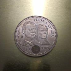 Monedas Juan Carlos I: 12 EUROS MONEDA FELIPE Y LETICIA 22/05/2004. Lote 176793268