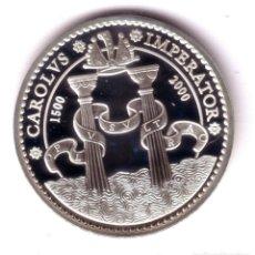 Monedas Juan Carlos I: ESPAÑA MODULO 2000 PESETAS PLATA 2000 PRUEBA - V CENTENARIO CARLOS V - PROOF. Lote 176844232