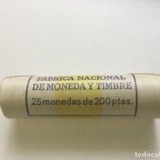 Monedas Juan Carlos I: CARTUCHO MONEDAS JUAN CARLOS I - 25 MONEDAS 200 PESETAS 1986. Lote 176984055