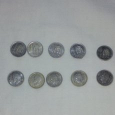 Monedas Juan Carlos I: LOTE DE 10 MONEDAS DE 1PESTA. Lote 177608704