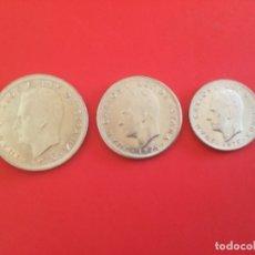 Monedas Juan Carlos I: ESPAÑA 3 MONEDAS 50, 25 Y 5 PESETAS 1975 S/C. +. Lote 177647088