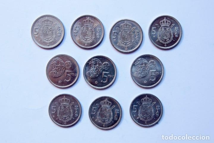 Monedas Juan Carlos I: N252.- JUAN CARLOS I.- LOTE DE 10 MONEDAS DE 5 PESETAS, SIN CIRCULAR. TODAS DIFERENTES - Foto 2 - 177797689
