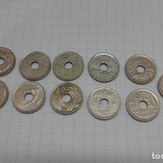 Monedas Juan Carlos I: LOTE 11 MONEDAS 25 PESETAS AGUJERO. Lote 178207021