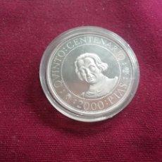 Monedas Juan Carlos I: 2000 PESETAS DE PLATA DE 1989. QUINTO CENTENARIO. SC. ENCAPSULADA. Lote 178306585