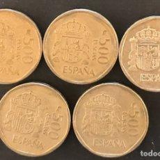 Monedas Juan Carlos I: 5 MONEDAS 500 PESETAS DE 1987, 1988 Y 1989. Lote 179231786