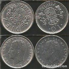 Monedas Juan Carlos I: ESPAÑA 10 PESETAS (VER AÑOS Y KM EN DESCRIPCION) - 2 MONEDAS CIRCULADAS. Lote 179284842
