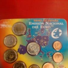 Monedas Juan Carlos I: 2006 ESPAÑA SET CARTERA EUROS MEDALLA PLATA QUINTO CENTENARIO CRISTÓBAL COLÓN FNMT. Lote 179806615