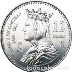 Monedas Juan Carlos I: MONEDA DE 12 EURO DE 2004: ISABEL LA CATÓLICA.. Lote 180291577