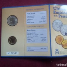 Monedas Juan Carlos I: CARTERA OFICIAL ULTIMA EMISION DE LA PESETA PLATA. REAL CASA DE LA MONEDA NUMERADA 2001. Lote 195435825