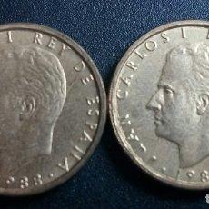 Monedas Juan Carlos I: 100 PESETAS 1988 SC VARIANTE BUSTO GRANDE (LEER DESCRIPCIÓN). Lote 181180380