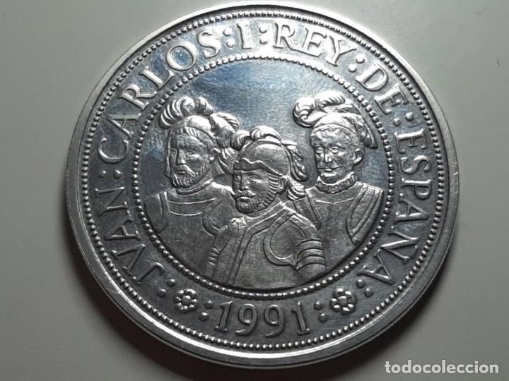MONEDA 2000 PESETAS PLATA QUINTO CENTENARIO 1991 (Numismática - España Modernas y Contemporáneas - Juan Carlos I)