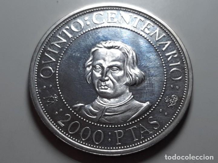 MONEDA 2000 PESETAS PLATA QUINTO CENTENARIO 1989 (Numismática - España Modernas y Contemporáneas - Juan Carlos I)