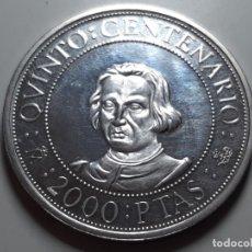 Monedas Juan Carlos I: MONEDA 2000 PESETAS PLATA QUINTO CENTENARIO 1989. Lote 181504640