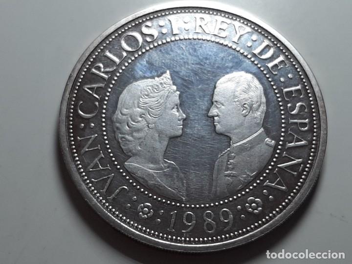 Monedas Juan Carlos I: MONEDA 2000 PESETAS PLATA QUINTO CENTENARIO 1989 - Foto 2 - 181504640