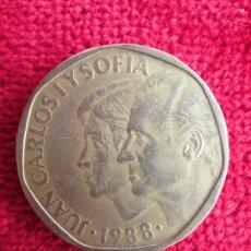 Monedas Juan Carlos I: MONEDA DE 500 PESETAS. JUAN CARLOS I Y SOFIA. 1988. Lote 181707645