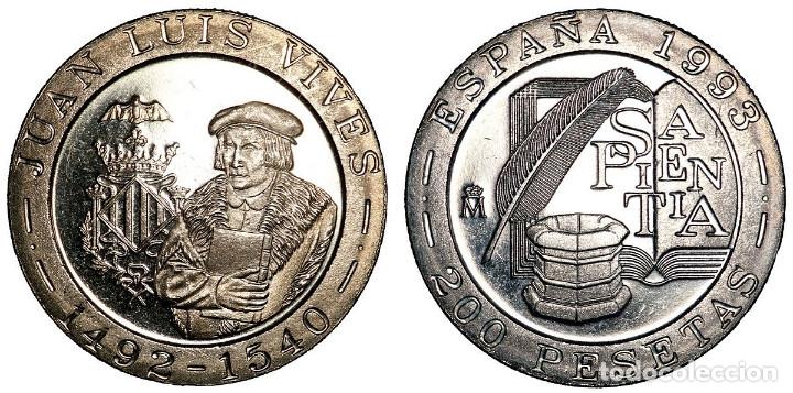 ESPAÑA: 200 PESETAS 1993 LUIS VIVES S/C (Numismática - España Modernas y Contemporáneas - Juan Carlos I)