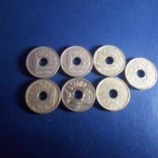 Monedas Juan Carlos I: 7 MONEDAS DE 25 PESETAS. JUAN CARLOS I.. Lote 181986692