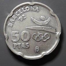 Monedas Juan Carlos I: ERROR-VARIANTE: 50 PESETAS 1992 REMARCADA. Lote 182006265