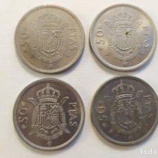 Monete Juan Carlos I: LOTE DE 4 MONEDAS DE 50 PESETAS - JUAN CARLOS I - 1975 *76 *78 *79 *80. Lote 182147342