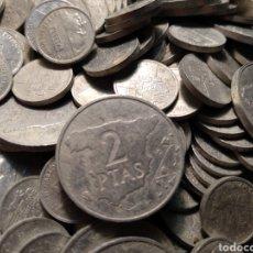 Monedas Juan Carlos I: LOTE DE MONEDAS DE 1 Y 2 PESETAS QUE VAN DE 1982 A 1991. Lote 182433055