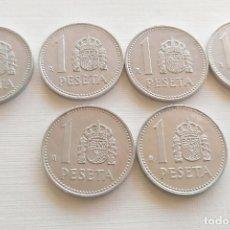 Monete Juan Carlos I: LOTE DE 6 MONEDAS DE 1 PESETA - JUAN CARLOS I - 1984. Lote 182486438