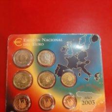 Monedas Juan Carlos I: 2003 ESPAÑA SET OFICIAL FNMT EUROS QUIJOTE JUAN CARLOS I. Lote 182616408