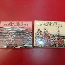 Monedas Juan Carlos I: ESPAÑA AÑO 2.000 DOS MONEDAS JUEGOS PARALÍMPICOS PARALÍMPICOS PLATA 1.000 PESETAS CERTIFICADO. Lote 182666260