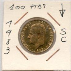 Monedas Juan Carlos I: EXCEPCIONAL 100 PESETAS AÑO 1983 LIS AL REVERSO . SIN CIRCULAR, PRECIOSA. Lote 107922828