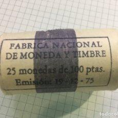 Monedas Juan Carlos I: CARTUCHO MONEDAS JUAN CARLOS I - 25 MONEDAS 100 PESETAS 1980 *80. Lote 183304825