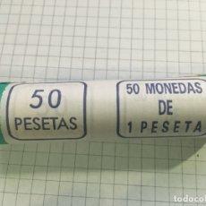Monedas Juan Carlos I: CARTUCHO 50 MONEDAS 1 PESETA JUAN CARLOS I 1989. Lote 183305173