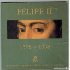 Monedas Juan Carlos I: ESTUCHE DE LA FNMT AÑO 1998 CON MONEDA DE 2000 PTAS. DE PLATA IMAGEN FELIPE II. Lote 183366138