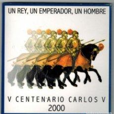 Monedas Juan Carlos I: ESTUCHE DE FNMT AÑO 2000 CON MONEDA DE 2000 PTAS. DE PLATA IMAGEN CARLOS V. Lote 183472315