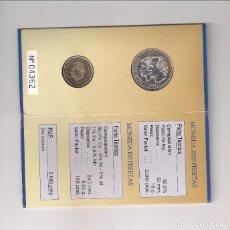 Monnaies Juan Carlos I: CARTERA NUMERADA DE JUAN CARLOS I DE 2000 Y 100 PESETAS DE 2001. PLATA. ÚLTIMA EMISIÓN DE LA PESETA.. Lote 183813817