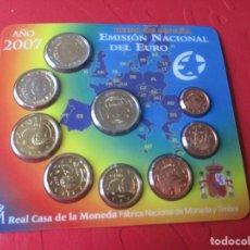 Monedas Juan Carlos I: SET DE LA EMISIÓN NACIONAL DEL EURO. 2007. Lote 183827030
