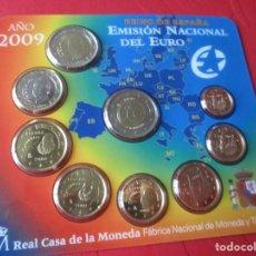 Monedas Juan Carlos I: SET DE LA EMISIÓN NACIONAL DEL EURO. 2009. Lote 183827248
