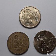 Monedas Juan Carlos I: LOTE 3 MONEDAS 500 PESETAS LA DE LAS FOTOS . Lote 184627136