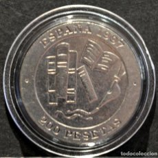 Monedas Juan Carlos I: 200 PESETAS JUAN CARLOS I 1997 ESPAÑA JACINTO BENAVENTE PREMIO NOBEL LITERATURA 1922. Lote 184729208